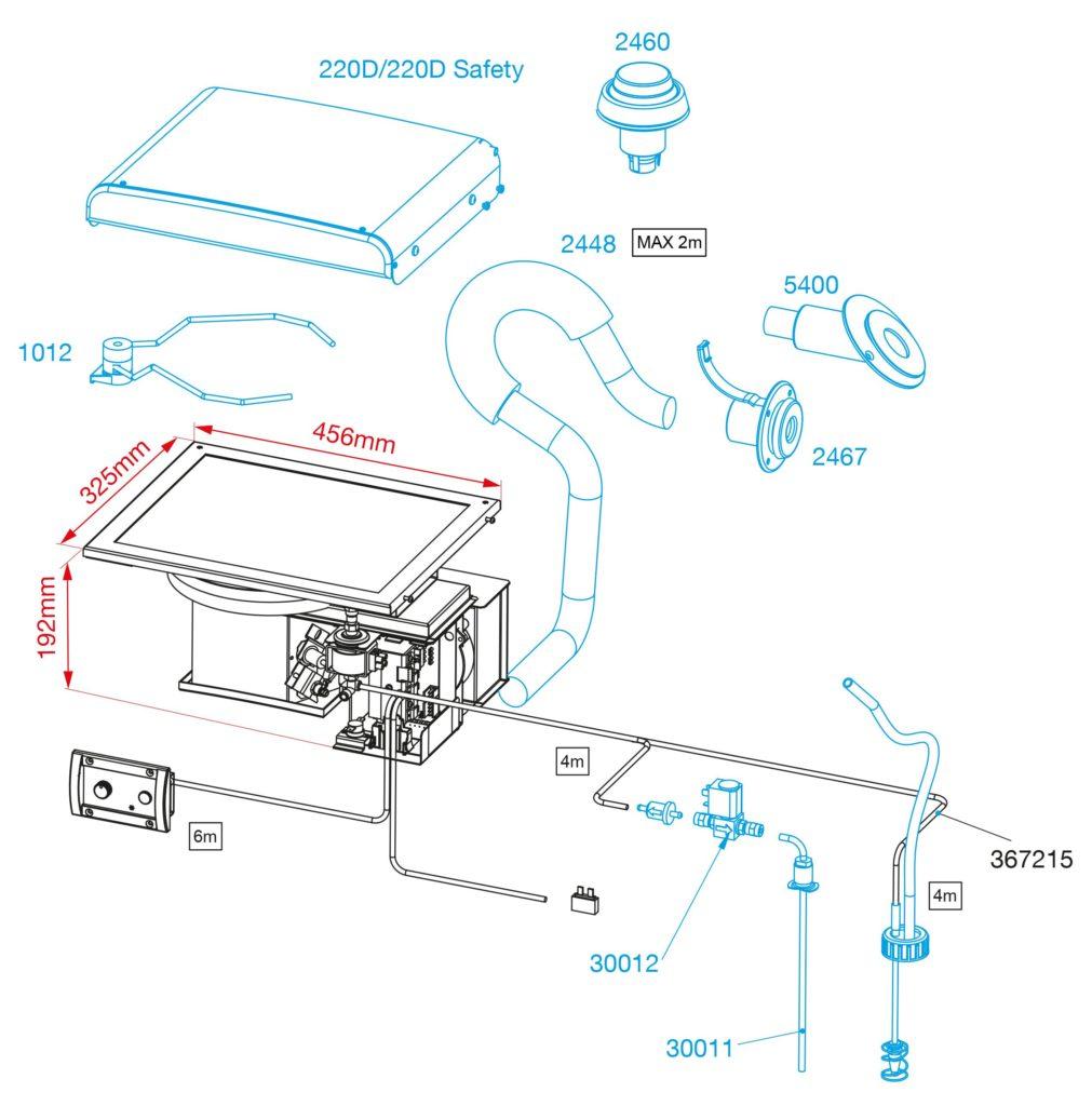 800D ceramic diesel hob dimensions
