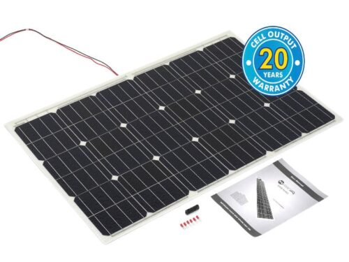 100w Solar Panel with rear cable entry