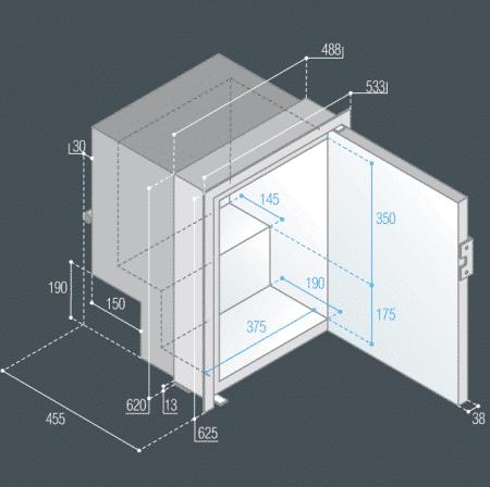 Vitrifrigo C60iX dimensions