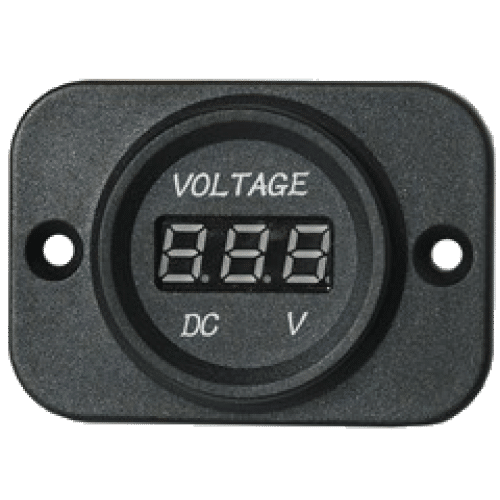 Digital voltmeter with bezel