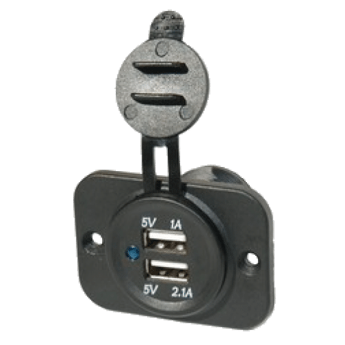 Dual port 5v USB socket