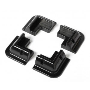 Premium corner profiles (4-pack) in black