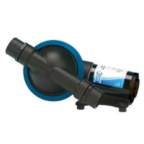 Self-priming diaphragm waste pump