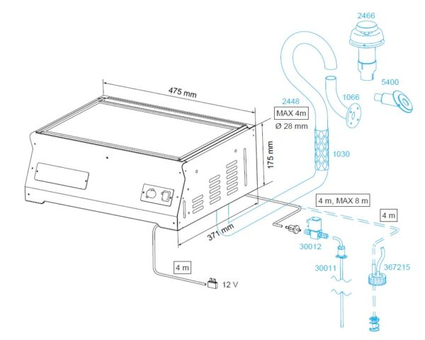 wallas 85dp dimensions and accessories