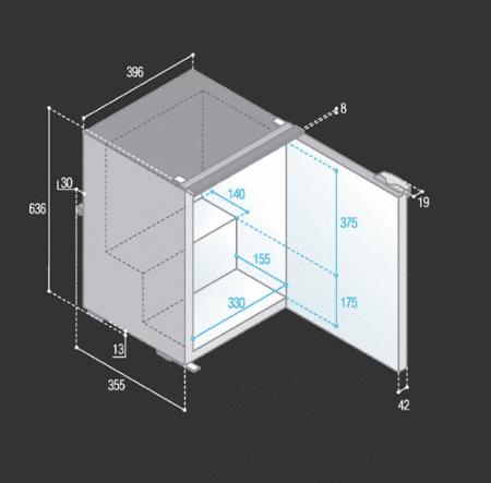 Vitrifrigo C50I dimensions