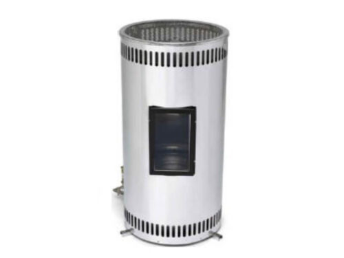Glembring 2kW Diesel Heater stainless polished steel with window 1