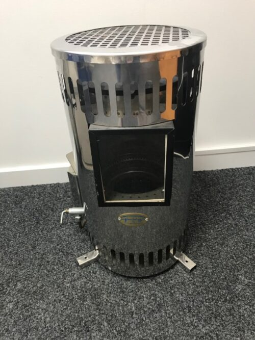 Glembring 2kW Diesel Heater stainless polished steel with window 2