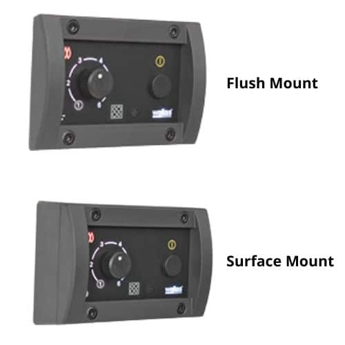 Flush Mount and Surface mount options